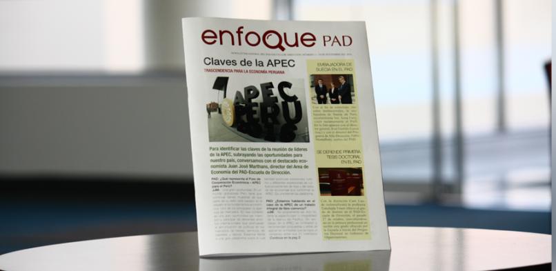 Lanzamos nuestro newsletter Enfoque PAD