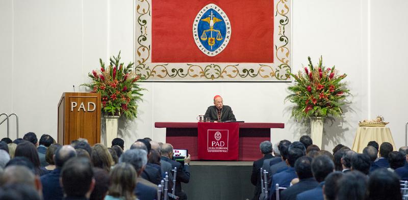Saludo navideño del Cardenal en el PAD